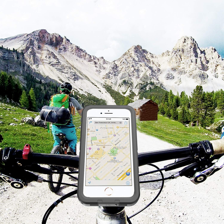 Support V/élo et /Étui de Protection pour iPhone 7 Antichoc Antipoussi/ère Housse de Support pour Guidon de V/élo//Moto pour Apple iPhone 8 // iPhone 7 Gelink iPhone 8 Bike Kit 4,7 Pouces