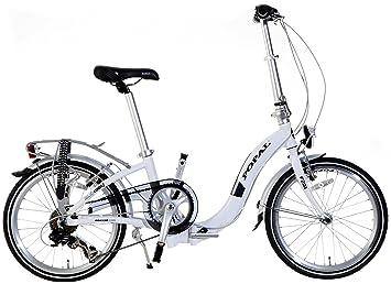 20 Pulgadas Bicicleta plegable 6 velocidades Popal Subway F201, Weiß