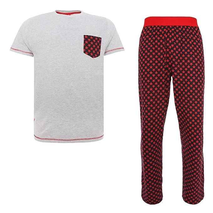 Liverpool FC Conjunto de Pijama LFC Hombre Gris/Rojo Largo LFC Oficial