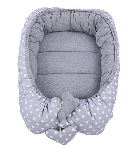 Vizaro - NIDO Bebé Reversible Multiuso -100% ALGODÓN PURO ALTA CALIDAD - Uso como