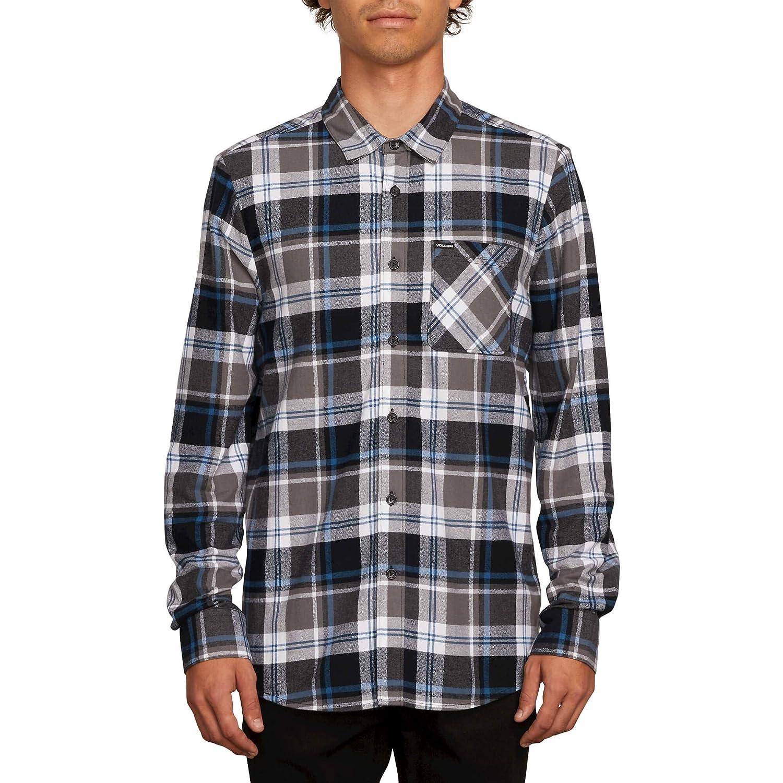 Volcom Mens Caden Plaid Long Sleeve Flannel Shirt