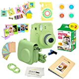 Fujifilm Instax Mini 9 Instant Camera LIME GREEN w/ Fujifilm Instax Mini 9 Instant Films (20 Pack) + A 14 Pc Deluxe Bundle For The Fujifilm Instax Mini 9 Camera