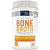 Bone Broth Caldo concentrado de hueso bovino con cúrcuma - Rico en Colágeno para mejorar la salud del intestino, la…