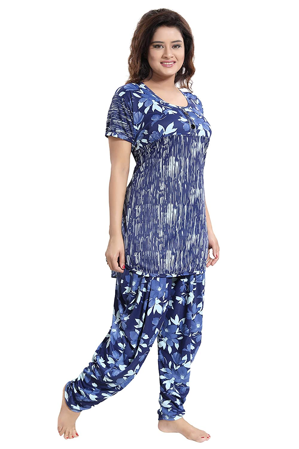 54d2fb3a12 TUCUTE Top and Dhoti Style Bottom Night Suit Nighty Nightdress Night Gown  for Women and Girls Size  L XL XXL  Amazon.in  Clothing   Accessories