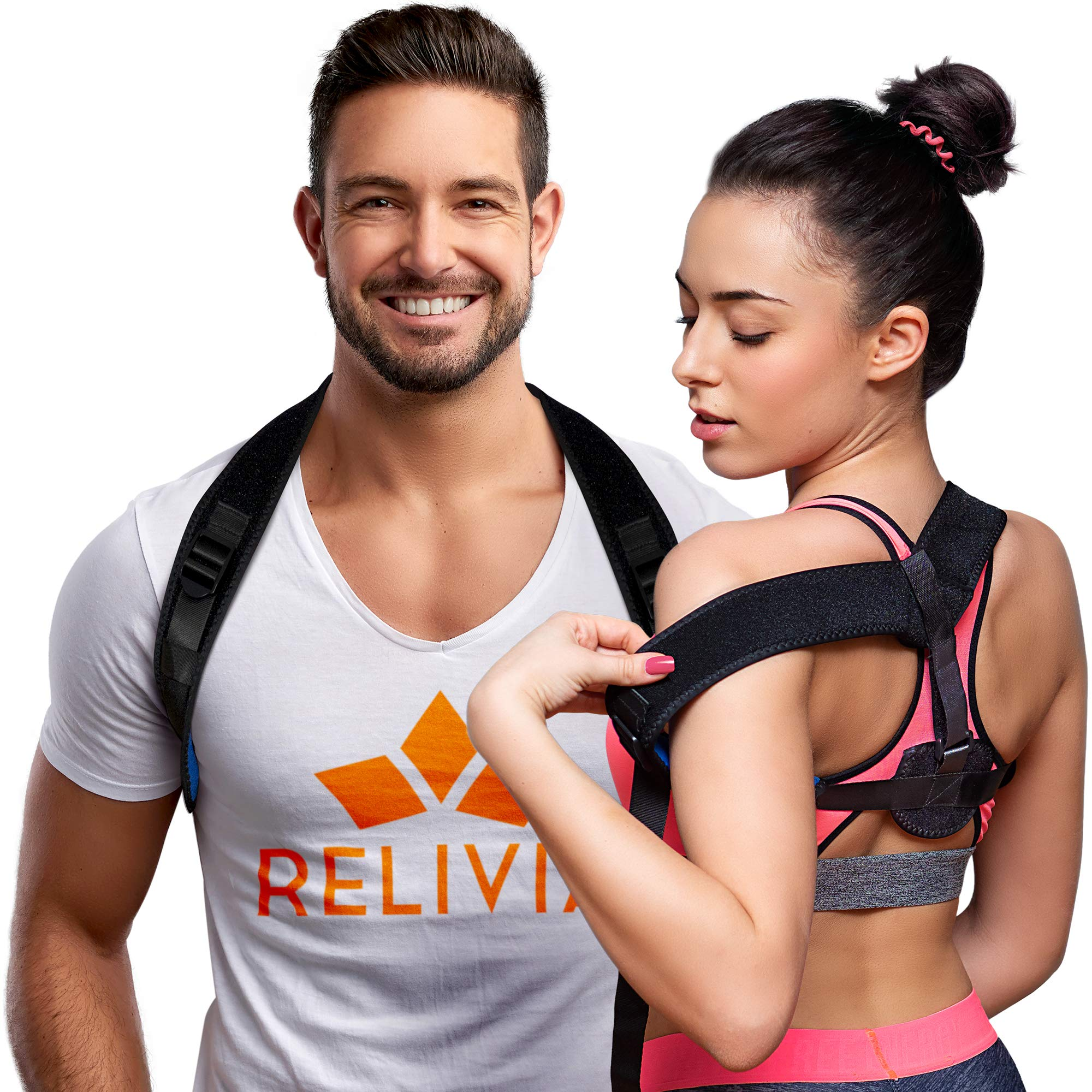 Posture Corrector for Men and Women - Back Straightener for Clavicle Support - Upper Back Brace Providing Pain Relief for Neck, Back & Shoulders - for Everyday Use in Office, Home and Gym