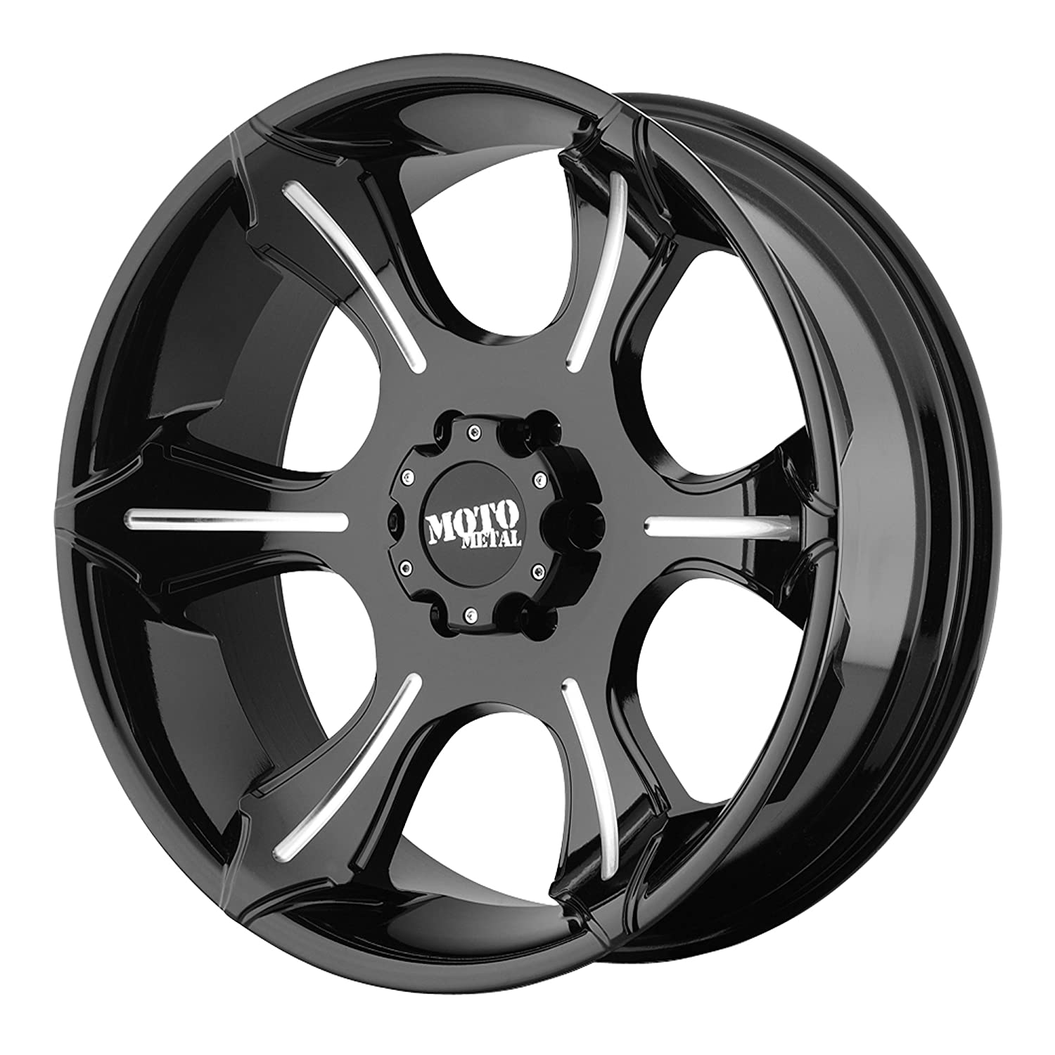 Moto Metal MO963 Matte Black Dually Outer Wheel With Machined Accents 17x6//8x165.1mm, +111mm offset