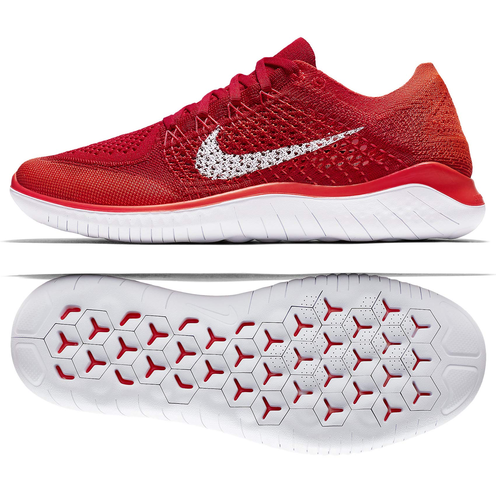 NIKE Men's Free RN Flyknit RunningTraining Shoes 11 D(M) US