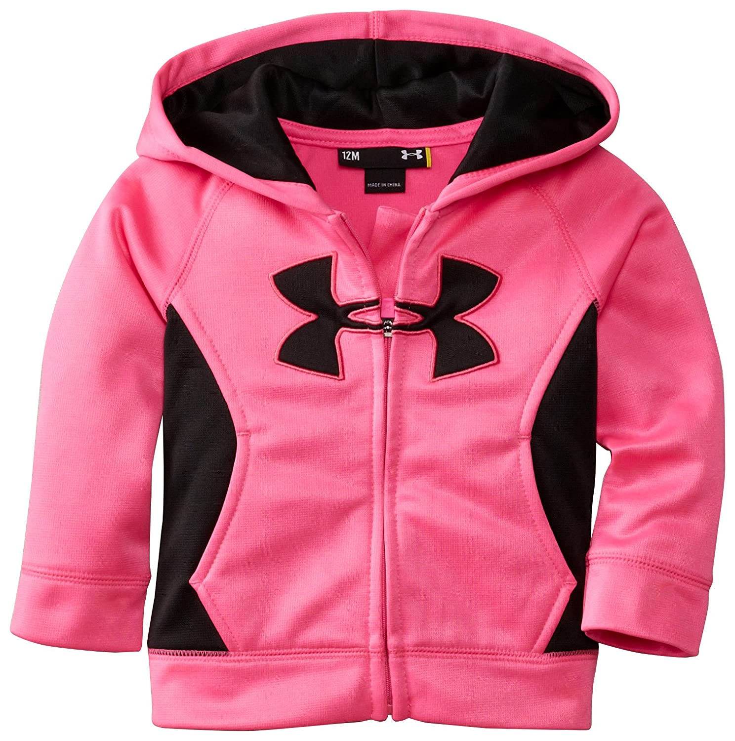 Amazon.com: Under Armour Baby Girls Solid Logo Hoodie, Chaos, 12 Months: Clothing