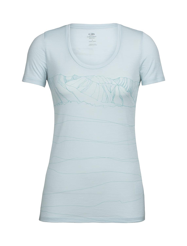 Icebreaker Damen Tech Lite Ss Scoop Paths T-Shirt ICEA5|#Icebreaker 103755