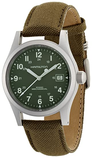 Hamilton Khaki Field Officer Handwinding - Reloj (Reloj de Pulsera, Masculino, Acero Inoxidable