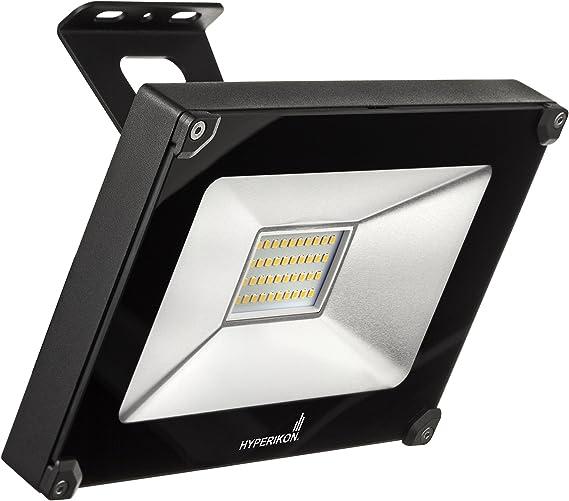 Hyperikon Proyector LED, 30W Foco Reflector (equivalente a 120W), Lámpara Impermeable IP65, Blanco Frío (5000K), Ideal para Sótano, Garaje, Taller: Amazon.es: Iluminación