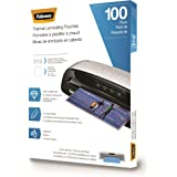 Fellowes Thermal Laminating Pouches/Sheets, Letter Size 9 x 11.5-Inches, 3 mil, 100 pack (5743301)