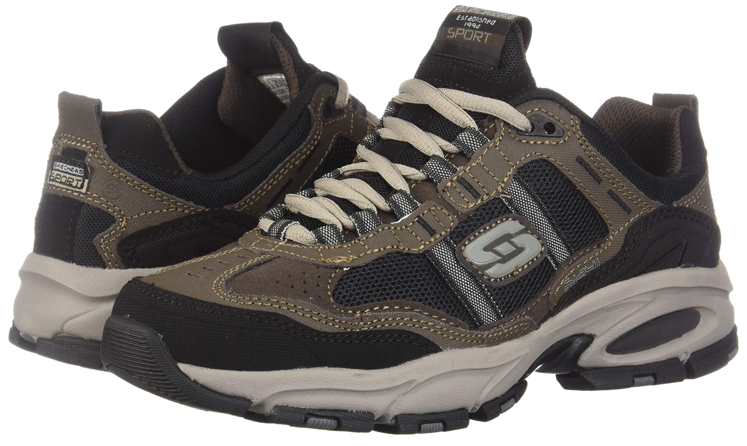 Skechers Sport Men's Vigor 2.0 Trait Memory Foam Sneaker, Brown/Black, 7 M US by Skechers (Image #6)