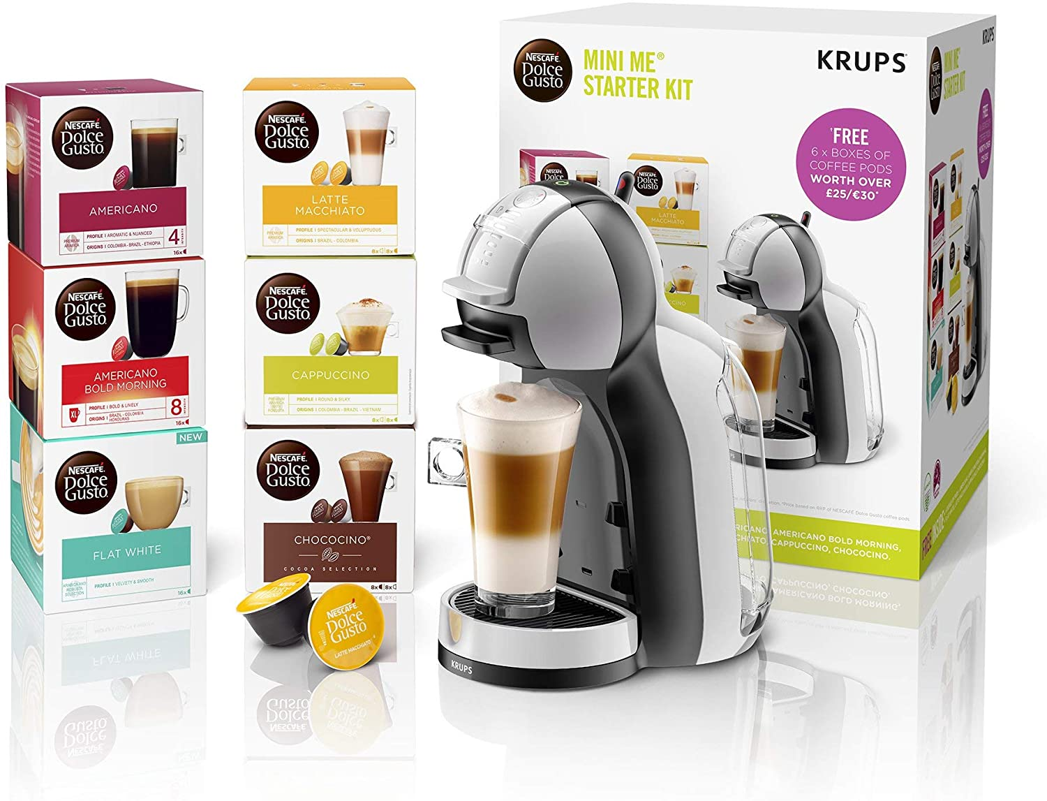 Nescafé Dolce Gusto KP123B41 Mini-Me Automatic Coffee Machine