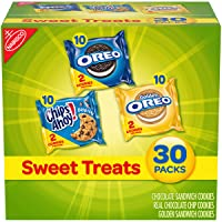Nabisco Sweet Treats Cookie Variety Pack OREO, OREO Golden & CHIPS AHOY!, 30 Snack...