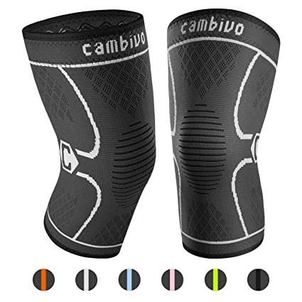 cffd0d592f CAMBIVO Knee Brace, 2 Pack Compression Knee Sleeves Knee Support Pads for  Men & Women