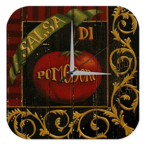 Reloj De Pared Cocina Decoración tomate vehículos Plexiglas Impreso