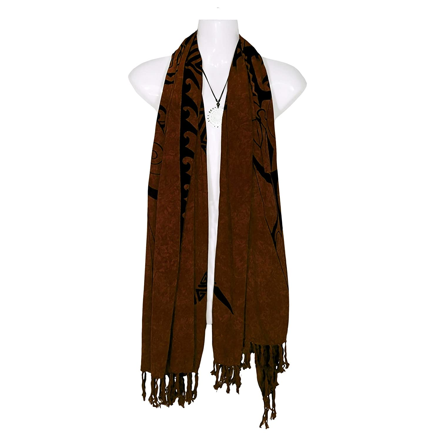 1WS Womens Tattoo Extra Wide Neck Scarf - in your choice of colors