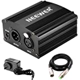 Neewer Phantom Power Kit Includes:1-Channel 48V Phantom Power Supply with Adapter and XLR Audio Cable for Any Condenser…