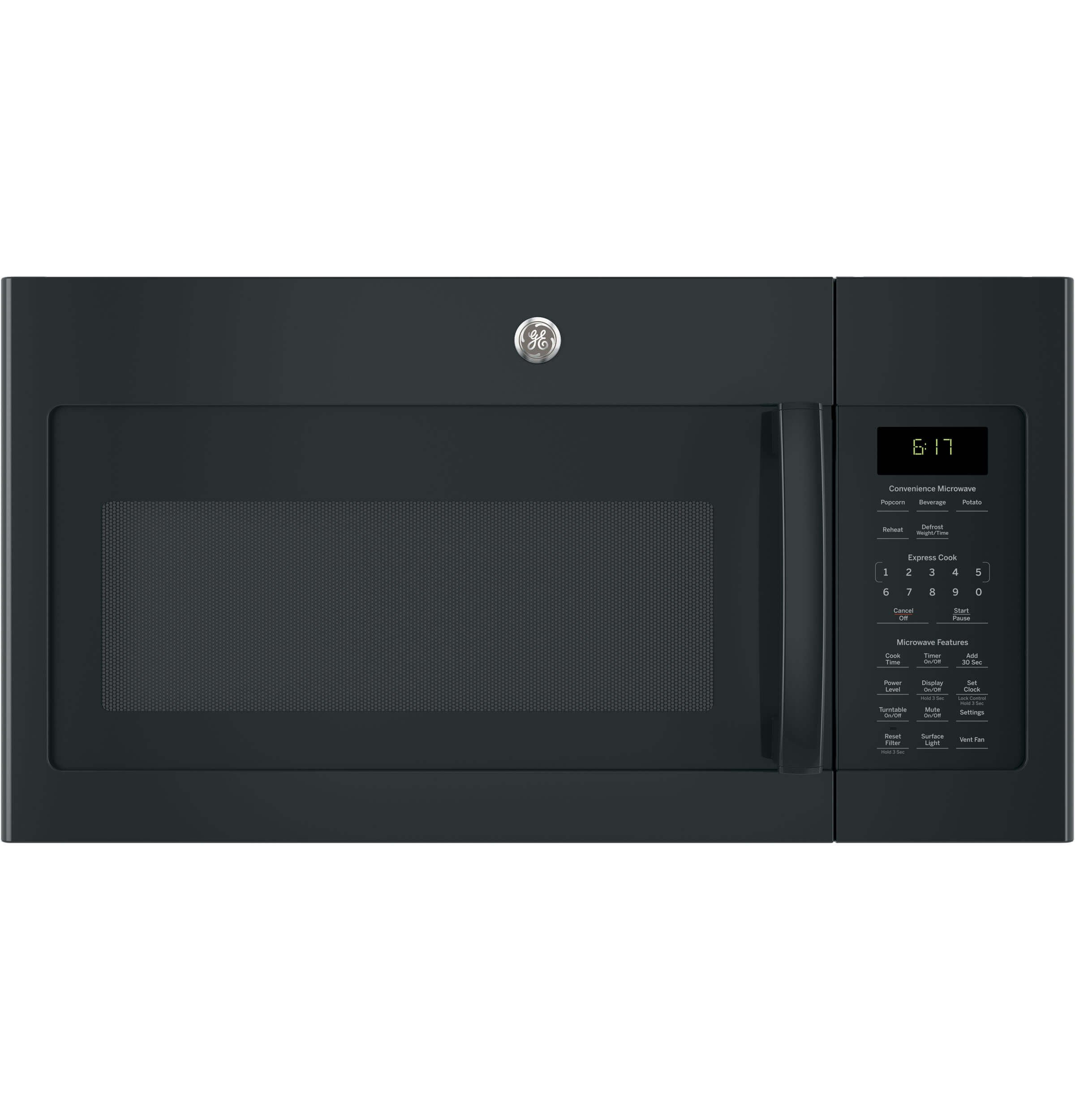 GE JVM6172DKBB Over-the- Over-the-Range Microwave, 1.7, Black by GE