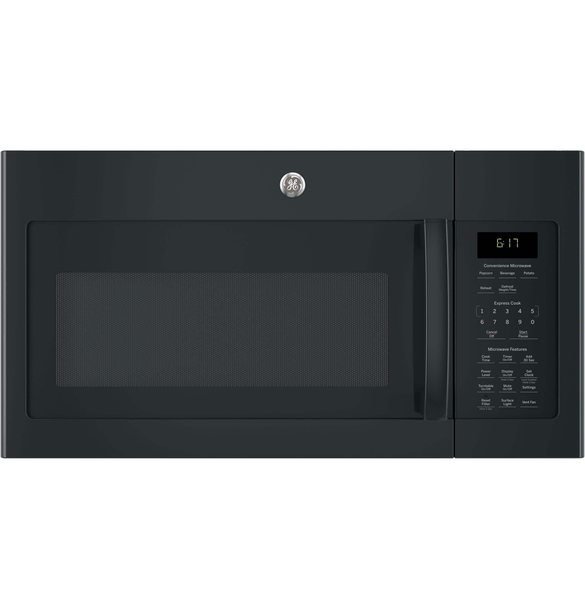 GE JVM6172DKBB Over-the- Over-the-Range Microwave, 1.7, Black by GE (Image #1)