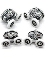 Set of 4 New Oval Butterfly Twin Wheel Shower Door Rollers