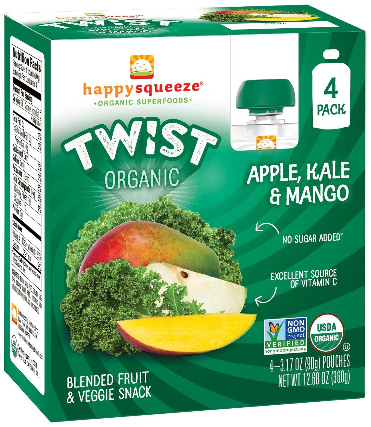 afa4f7b558 Happy Squeeze Organic Superfoods Twist Apple Kale Mango