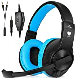 Amazon Price History for:Headset Gaming for PS4 ,Xbox One Controller ,Wired Noise Isolation, Over-Ear Headphones with Mic ,Stereo Gamer Headphones 3.5mm(Blue)