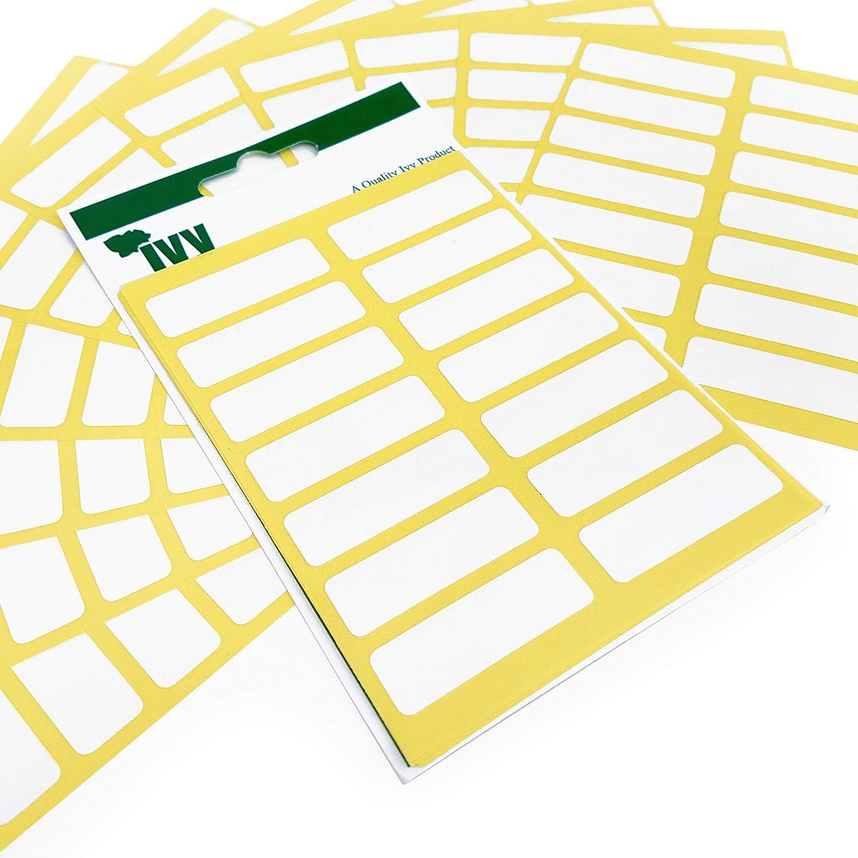 12 mm x 38 mm 840 Etichette adesive Bianche Adesivi rettangolari Facili da staccare edera cancelleria