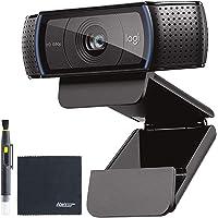 C920 HD PRO Webcam Full HD 1080p Video Calling with Stereo Audio (960-000764) Tripod Ready + AOM Starter Bundle