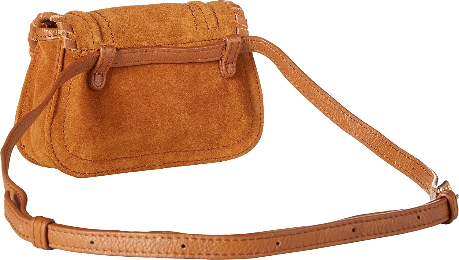 Polly Messenger Bag in Caramelo Leather and Suede See By Chlo A9Ugli
