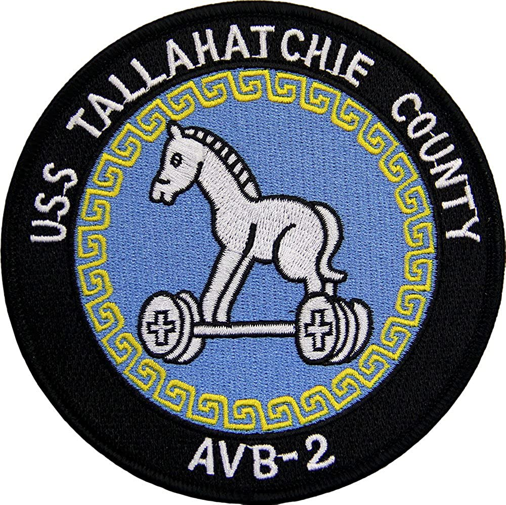 USS Tallahatchie County AVB-2 Ship Patch Full Color