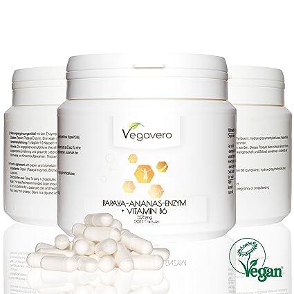 Enzima de PAPYA PAPAÍNA + PIÑA ENZIMA BROMELINA 600 mg, 300 ...