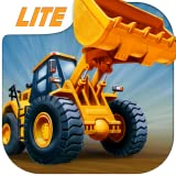 Kids Vehicles: Construction Lite + free puzzle & colouring book for toddler