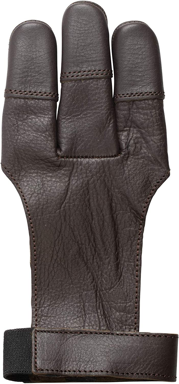 Bear Archery Leather 3 Finger Traditional Archery Shooting Glove