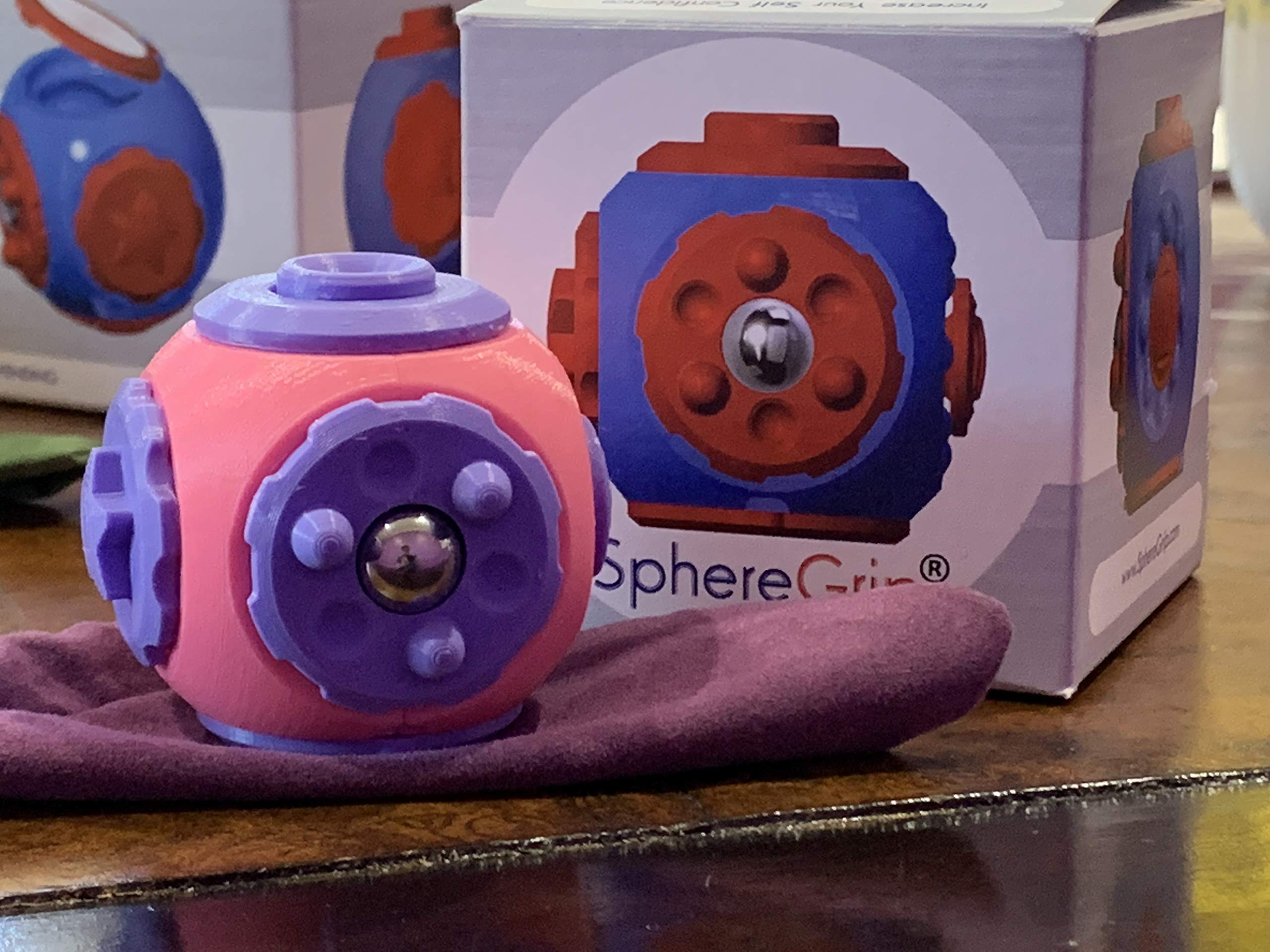 SphereGrip, Fidget toy, Reduce Anxiety and Stress, Increase Self-confidence, Fidget, Storage, Mirror (All 6 combinations) by Arbi Design (Image #6)