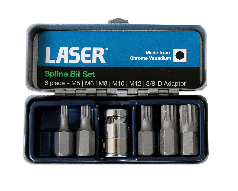 Laser 0592 Spline Bit Set - 3/8'd 6pc Tool Connection (EU)