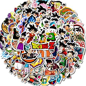 Dragon Ball Z Stickers,100PCS Anime Vinyl Stickers for Laptop Water Bottle Bike Car Skateboard Graffiti