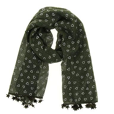 e80088b4767b FASHIONGEN - Echarpe oversize coton Valentine - Vert  Amazon.fr ...