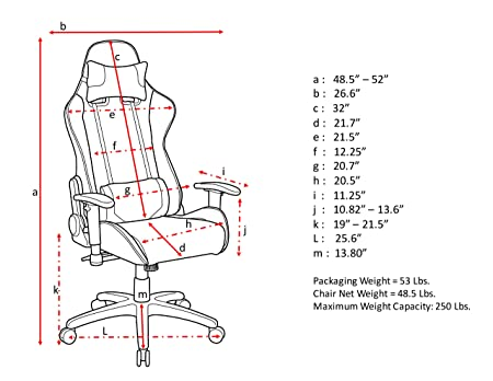 Amazon Techni Mobili Sport Office Pc Gaming Chair In Blue
