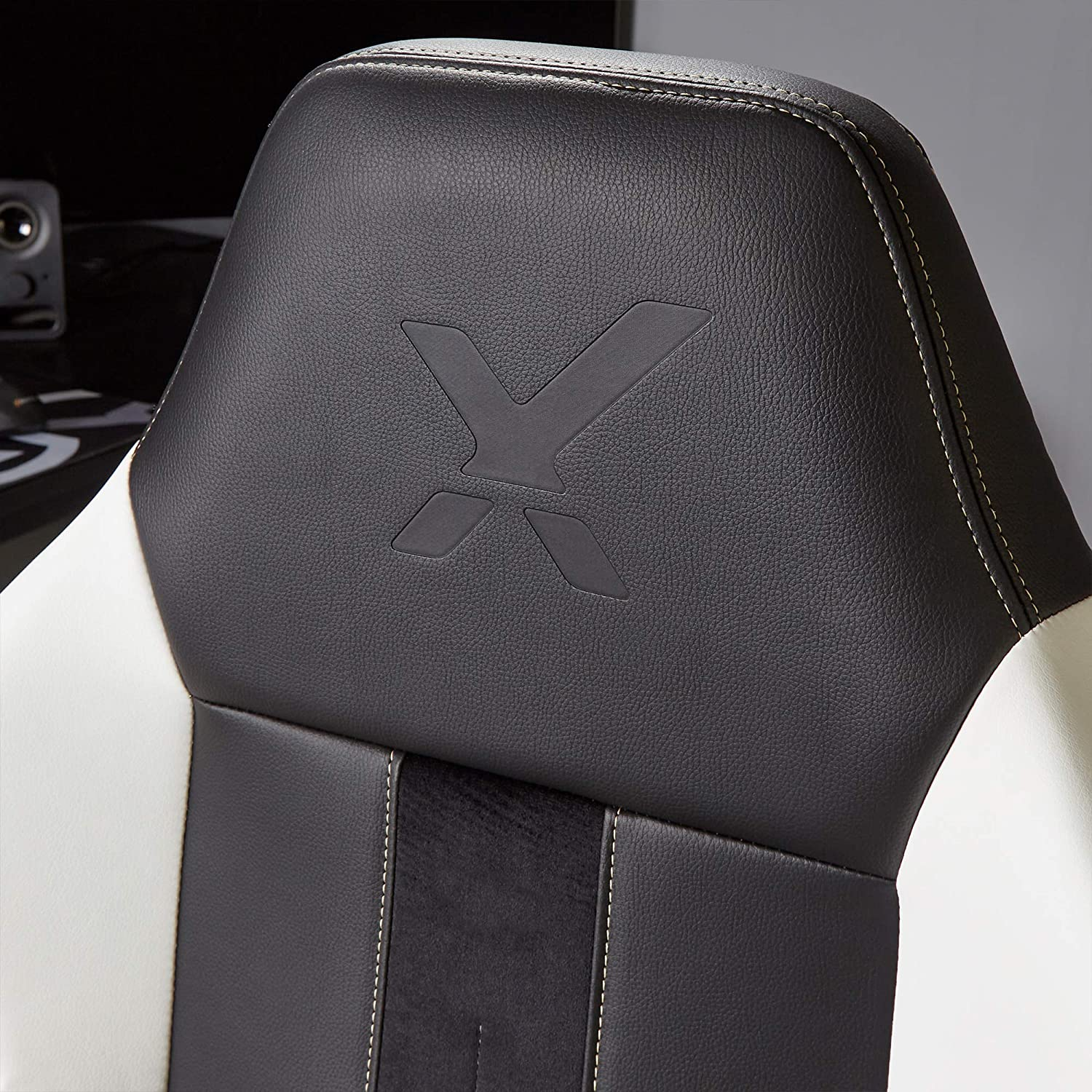 X-Rocker Echo Esports Gaming Chair with Ultimate Phase Changing Comfort Black / Gold / White