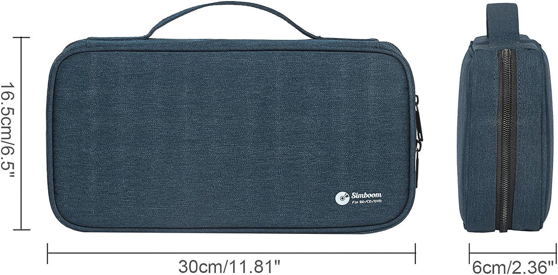 Simboom Fundas Bolsas para CD/DVD, Porta CD Estuche para Almacenamiento de CD Capacidad para 96 cds, Azul: Amazon.es: Electrónica
