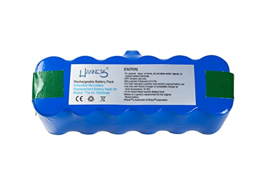 Hannets x-life - Batería de larga duración para robot aspirador ...