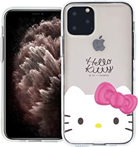 iPhone 11 Case Hello Kitty Face Cute Bow Ribbon Clear Jelly Cover [ iPhone 11 (6.1inch) ] Case - Face Hello Kitty