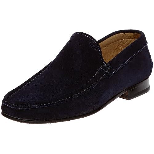 Florsheim - Mocasines de cuero para hombre, Azul, 43: Amazon.es: Zapatos y complementos