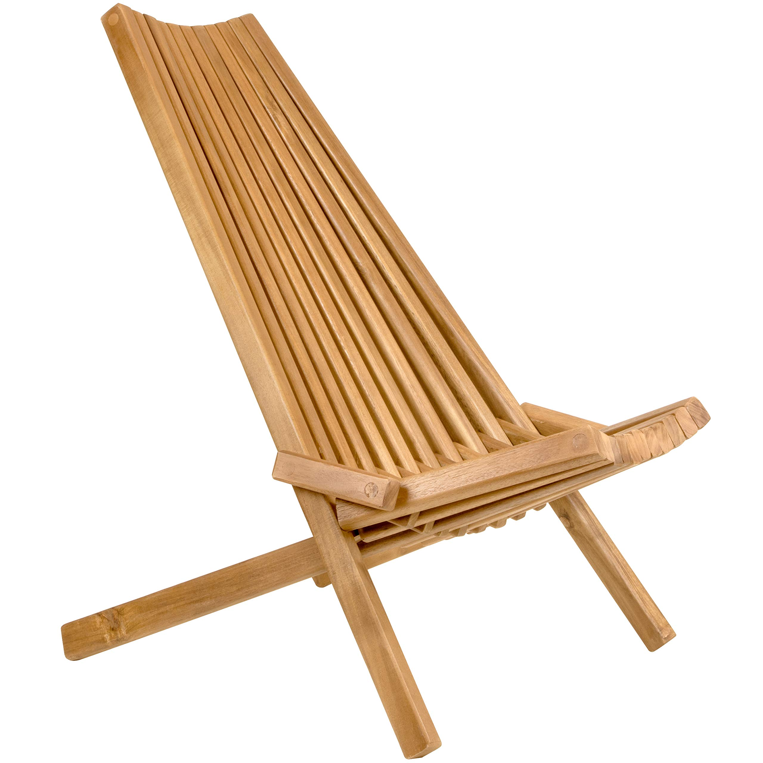 Folding wooden lounge chair