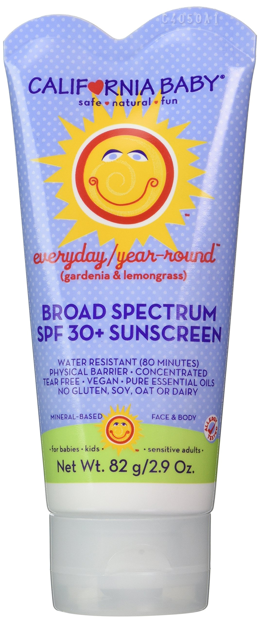 California Baby SPF30+ Sunscreen Lotion, Everyday/Year Round, Water Resistant and Hypo-Allergenic, 2.9 Ounce by California Baby