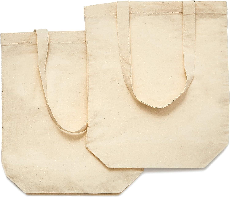 Juvale - Juego de 10 bolsas de lona de algodón para manualidades (33 x 29,5 cm): Amazon.es: Hogar