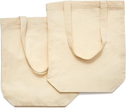 Juvale - Juego de 10 bolsas de lona de algodón para manualidades ...