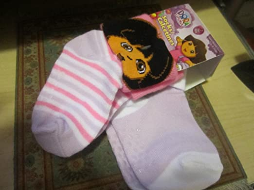 Amazon.com : Dora the Explorer 2 Pair Socks (Size 18-24 Months) : Baby Products : Baby